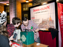 The Innis and Gunn booth at Winter Brewfest on Saturday, Feb. 20.