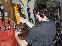 Staff from Beau's Brewery were pouring beer from the side of their truck at Winter Brewfest.