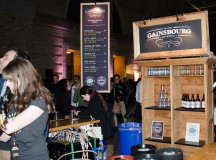 Quebec's Bistro Gainsbourg Brassierie had six different beers on tap at their booth Saturday night.