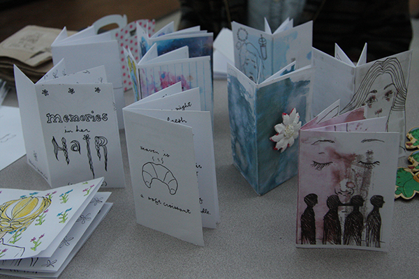 Colourful and unique zines all made by Morris