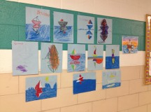 Some examples of the kids' artworks.