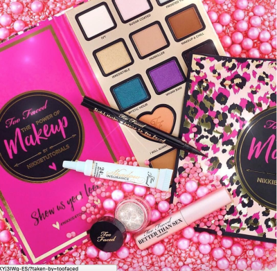 De Jager's Power of Makeup palette featured on the Too Faced Instagram page