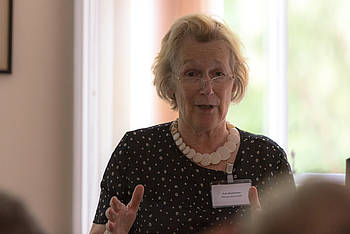 Ann Buchanan giving a speech. (Photo from University of Oxford